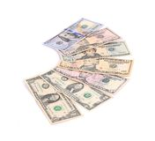 Heap of dollar bills. Royalty Free Stock Photos