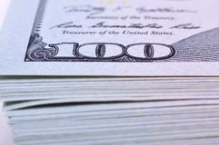 Heap dollar bills Royalty Free Stock Images
