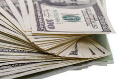 Heap of $100 dollar bills Royalty Free Stock Photo