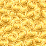 Heap of Dollar Coin. Illustration of heap of gold dollar coin kept together stock illustration