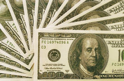 Heap of dollars. Heap of american hundred greenback like a backgound Stock Photography