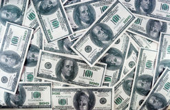Heap of dollars. Heap of american hundred greenback like a backgound Royalty Free Stock Images