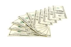Heap of dollars Royalty Free Stock Image