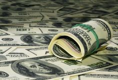 Heap of dollars 4 Stock Image