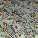 Heap of dollars. Background with money. New american hundred dollar bills. Vector illustration stock illustration
