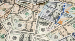 Heap of dollars background Stock Images