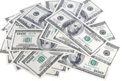 Heap of dollars, money background Stock Photos