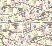 Heap of dollars, money background Stock Image
