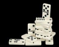 Heap from domino bones Stock Photos