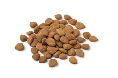 Heap of dried apricot stones Stock Images