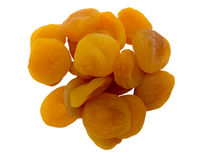 Heap of dried apricots. Royalty Free Stock Photos