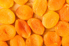 Heap of dried apricots close-up food background Royalty Free Stock Photos