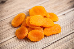 Heap of dried apricots close-up Royalty Free Stock Photos