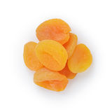 Heap of dried apricots Stock Image