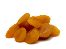 Heap of dried apricots. Stock Photo