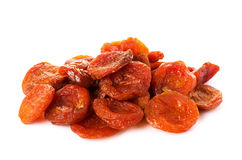 A heap of dried apricots Stock Photos