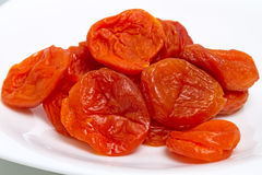 Heap of dried apricots Royalty Free Stock Photography