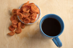Heap of dried apricots Stock Photo