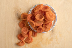 Heap of dried apricots Stock Images