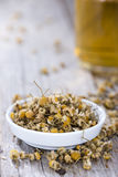 Heap of dried Camomile Stock Photo