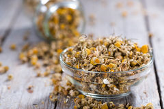 Heap of dried Camomile Stock Photos