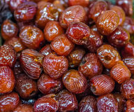 Heap of dried Chinese date (Ziziphus jujuba) Royalty Free Stock Photography