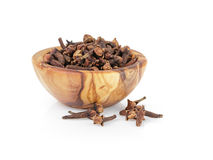 Heap of dried cloves in bowl Royalty Free Stock Photography