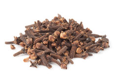 Heap of dried cloves, isolated Royalty Free Stock Photo