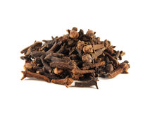 Heap dried cloves isolated on white background Stock Photography