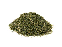 Heap dried dill isolated on white background Royalty Free Stock Photo