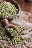 Heap of dried green Peas Royalty Free Stock Photos
