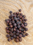 Heap of dried juniper berries Royalty Free Stock Photos