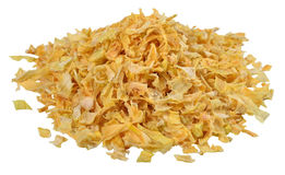 Heap of dried onions on a white Royalty Free Stock Photo