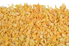 Heap of dried onions on a white Royalty Free Stock Image