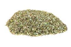 Heap of dried oregano spice Stock Photography