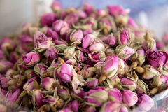 Heap of Dried rosebuds Stock Photography