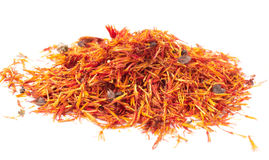 Heap of dried saffron Royalty Free Stock Images