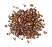 Heap of dried Sichuan pepper seeds Royalty Free Stock Photo