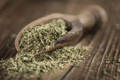 Heap of dried Stevia leaves Royalty Free Stock Photo