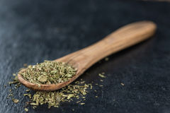 Heap of dried Stevia leaves Stock Photos