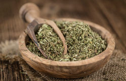 Heap of dried Stevia leaves Royalty Free Stock Photography