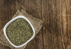 Heap of dried Stevia leaves Stock Photography