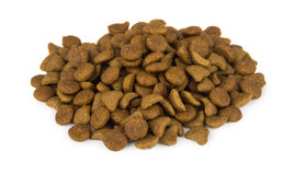 Heap of dry cat food Stock Photos