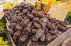 Heap of Dry Dates. Dry Dates on Display in a Fruit Market Royalty Free Stock Photo