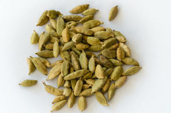 Heap of Dry Green Cardamons Royalty Free Stock Images