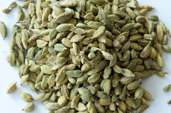 Heap of Dry Green Cardamons Stock Photography