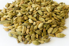 Heap of Dry Green Cardamons Stock Photos