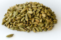 Heap of Dry Green Cardamons Royalty Free Stock Photography