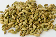 Heap of Dry Green Cardamons Stock Photo