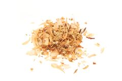 Heap of dry medical herbal tea on white background Royalty Free Stock Image